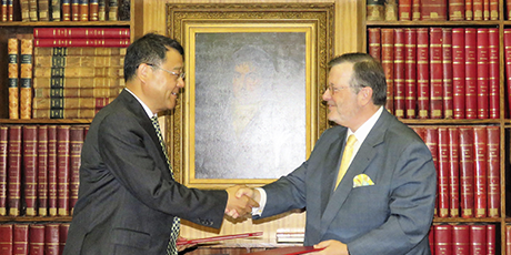 A Câmara de Comércio e o China Council for the Promotion of International Trade assinam um protocolo de cooperação